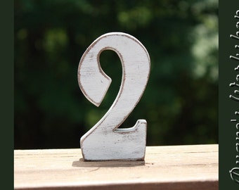 5 inch Wedding Table Numbers Freestanding Wooden, Wedding reception, Painted