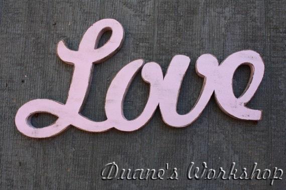 Love Sign Diy Wedding Decoration Wall Hanging Cottage
