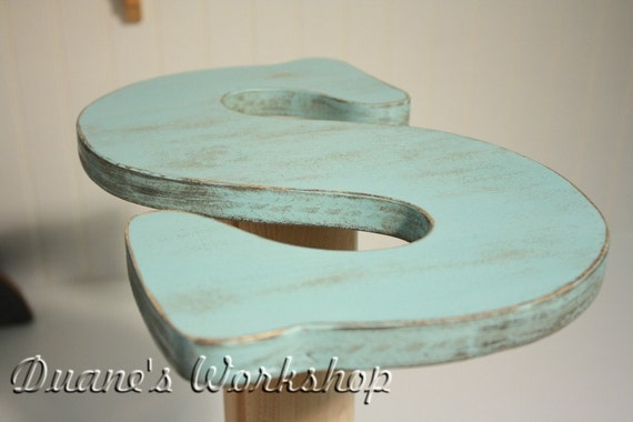 13 inch wooden letter Letter S, Wall hanging, Turquoise, Shabby chic, beach decor, wooden letters, home decor, Housewares