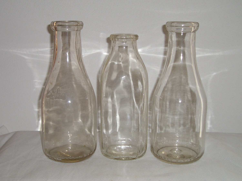Quart Glass Milk Bottles