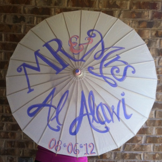 Reserve listing for Rute: 5 Hand-Painted WHITE Parasol Custom made to fit your desired theme