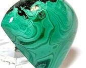Green Malachite Cabochon 48 carats 32 mmx 25 mm