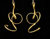 Swirl-icious eye popping EARRINGS one of a kind hand crafted