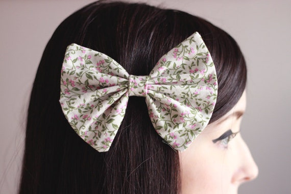 Pink Garden Floral Bow