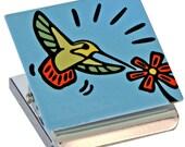 Hummingbird Metal Clip Magnet