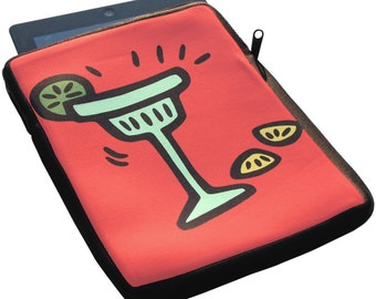 Margarita iPad 1, 2 and 3 Neoprene Zippered Case - 50% off iPad Case Sale
