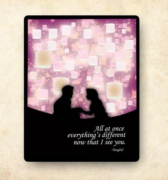Inspirational Disney Quotes: Tangled Disney Princess Inspirational Quote Poster... 11x14