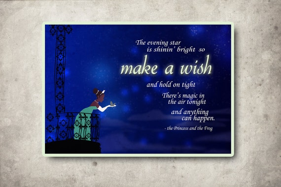 disney princess and the frog quote poster... digital file