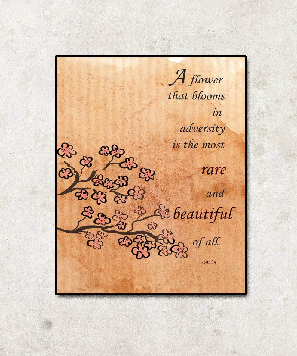 Inspirational Disney Quotes: Disney Mulan Inspirational Quote Poster... Digital File
