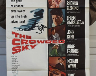 Original Vintage Movie Poster - The Crowded Sky circa 1960