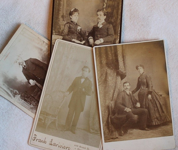 Cabinet Photographs - Mixed Lot of 8