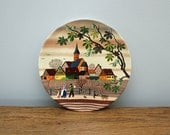 Vintage Decorative Plate - Poole Pottery - Autumn Scene - Retro