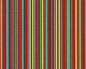 Nursery Fabric - Primary Colors - Michael Miller Fabrics - Play Stripe in Red - 1 yard