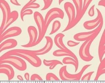 SALE - Girl Fabric - Nursery Fabric - Sweet Nothings Sweet Swirls in Pink - 1yd