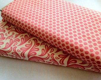 Fabric Bundle - Pink and White Fabric - Nursery Fabric - Girls Dress Fabric - 1.5 Yards
