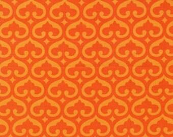 Orange Fabric - Spade Fabric - Michael Miller Spade in Pumpkin