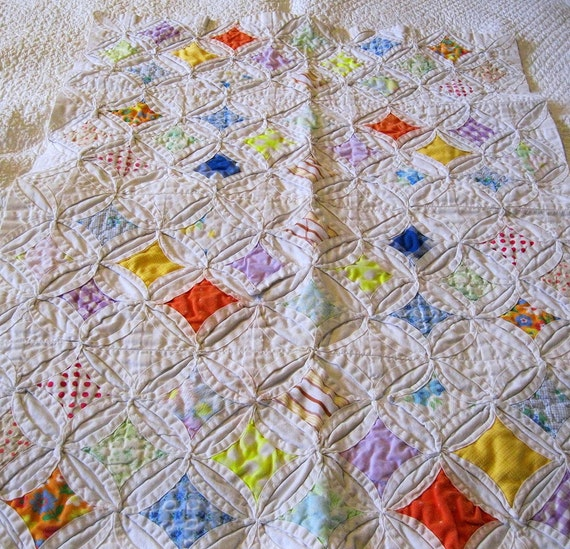 Cathedral Windows Doll Quilt or Wall Hanging