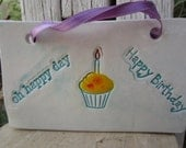 SALE Happy Birthday Friendship Ceramic Tile
