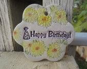 Happy Birthday Ceramic Tile