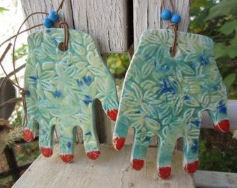 Two Ceramic Fun Hands