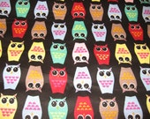 Owl Snuggle Flannel Fabric
