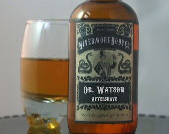 Aftershave Dr. Watson Mens Nevermore Body Company Black Friday Cyber Monday etsy sale Vegan Natural Sensitive