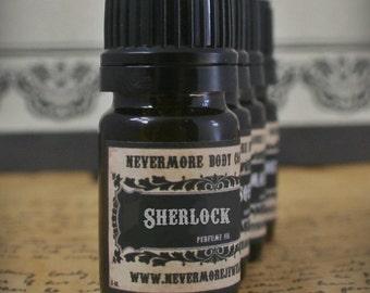 Cologne Oil Sherlock Fragrance Tobacco Men Natural Vegan Sensitive