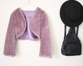 ON SALE Amazing 90s Purple Shaggy Faux Fur Jacket