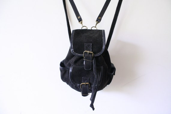 SUEDE LEATHER Mini 90s Grunge Backpack Bag