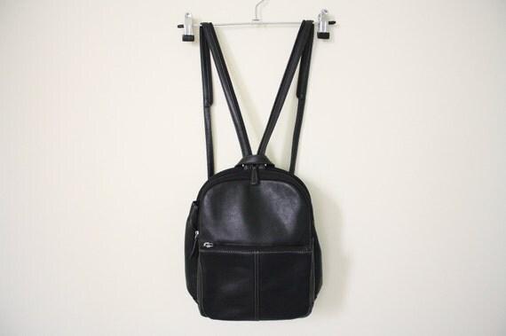 SALE 90s LEATHER Grunge Backpack Bag