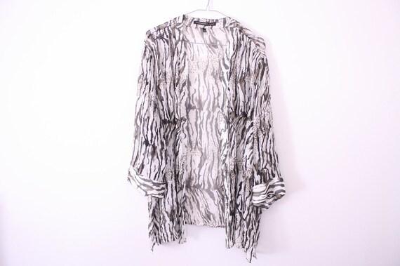 SALE 100% Silk Animal Print Kimono