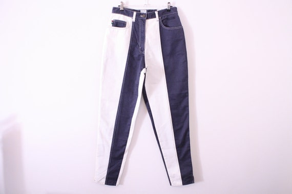 RESERVERD 80s MOSCHINO Ying Yang Two Tone Skinny Jeans