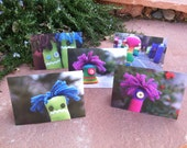 Set of 5 Folded Monster Photo Notecards With Envelopes