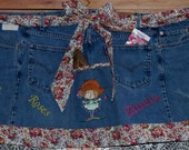 Recycled Gardening Apron from Jeans