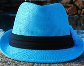 Bright Blue Fedora