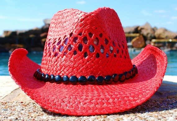 Red & Black Cowgirl Hat