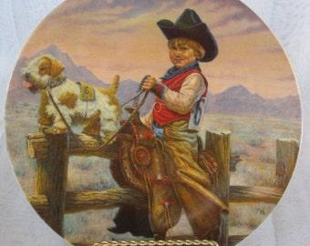 "Gregory Perillo ""Rodeo Joe"" Collectible Plate No. 242, Vintage 1981"