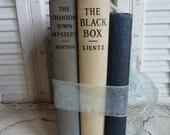 Vintage Blue and Cream Book Bundle Set of 3 Parisian Chic Decor Table top or Shelf Decor Antique Books