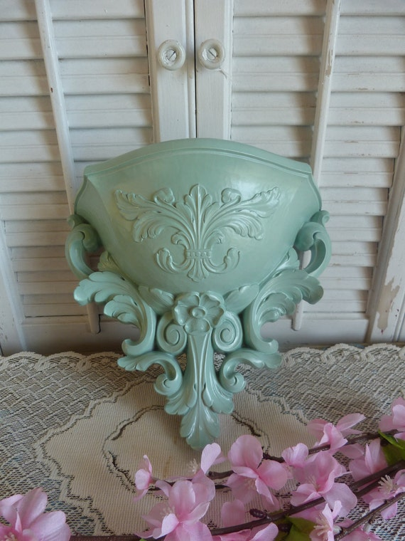 Sage Green Shabby Chic Wall Shelf Wall Decor Hanging Cottage