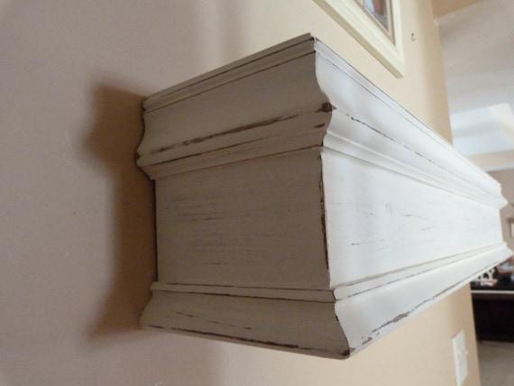 48L White Fireplace Mantel Shelf Floating Shelf