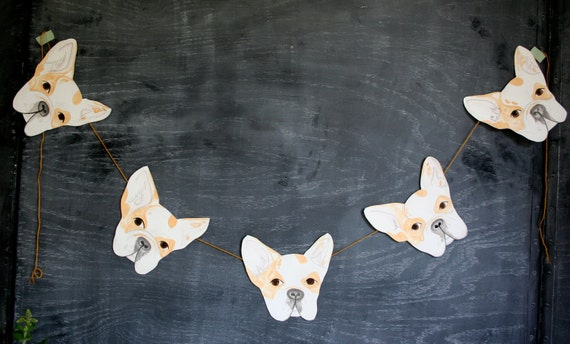 Hand Painted French Bulldog Garland, Ella