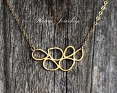 Gold Teardrop Necklace - Bridal Necklace - Organic Jewelry - Small Gold Pendant Necklace