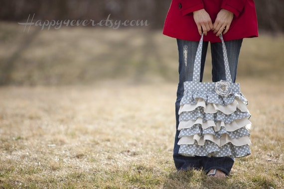 Polka Dot Ruffle Purse