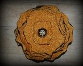 Mustard Yellow Vintage Inspired Flower Hair Clip/Pin