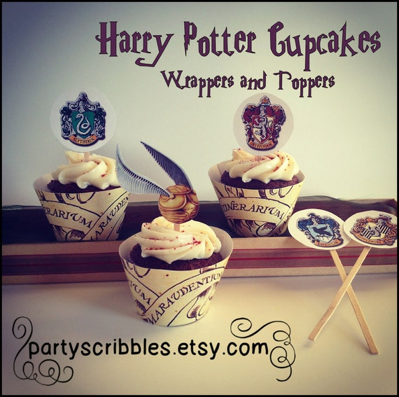 Wizard Party Cupcake Wrappers Amp Toppers Set Instant Download