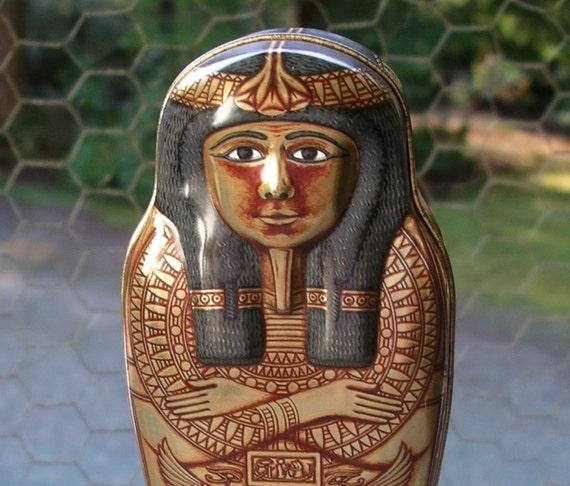 Hunkydory Egyptian Mummy Pencil Tin -  British Museum 1989