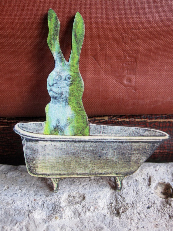 Bunny Brooch Rabbit Jewelry Easter Basket Gift