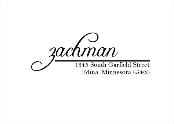 Custom Return Address Stamp -  Zachmans