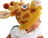 Knitted Giraffe Hat Pattern