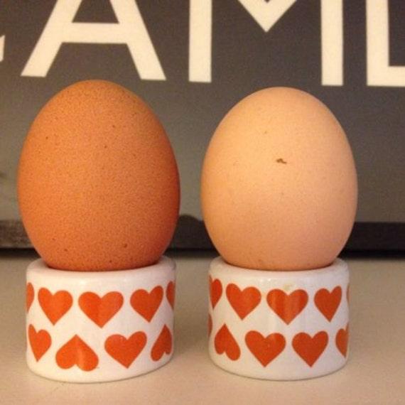 Retro Midcentury Scandinavian Heart Design Egg Cups